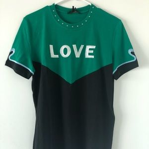 Maje embroidered LOVE T-shirt